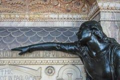 Cimetière rampant antique Images libres de droits