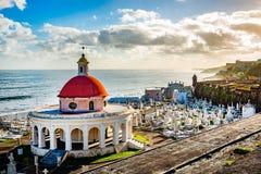 Cimetière Santa Maria en San Juan Puerto Rico images libres de droits