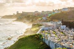 Cimetière Santa Maria en San Juan Puerto Rico image libre de droits