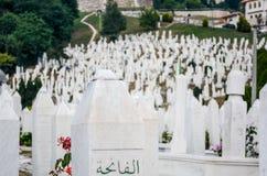 Cimeti?re musulman ? Sarajevo, Bosnie photos stock