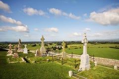 Cimetière à la roche de Cashel, Irlande Photographie stock libre de droits