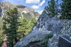 Cimetière symbolique dans haut Tatras, Slovaquie Photo libre de droits