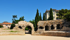 Cimiez, Nice (France). Roman ruins of Cemenelum in Cimiez, Nice (France Royalty Free Stock Image