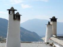 Ciminiere in Alpujarra Immagini Stock