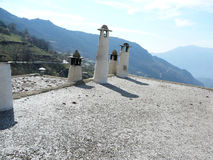 Ciminiere in Alpujarra Fotografia Stock Libera da Diritti