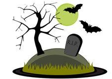 Cimitero illustrazione vettoriale
