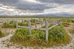 Cimitero abbandonato nell'Utah immagine stock