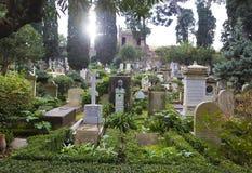 The `Cimitero Acattolico` - Englishmen`s Cemetery of Rome Stock Image