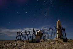Cimitero alla notte Fotografia Stock Libera da Diritti