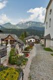 Cimitero alpino in Haus, Stiria, Austria Fotografia Stock