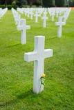 Cimitero americano alla Normandia Fotografie Stock