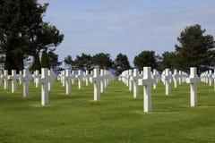 Cimitero americano alla Normandia Fotografie Stock Libere da Diritti