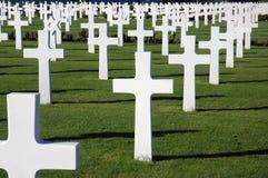 Cimitero americano di guerra Fotografia Stock Libera da Diritti