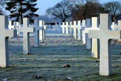 Cimitero americano e Memeorial Immagini Stock Libere da Diritti
