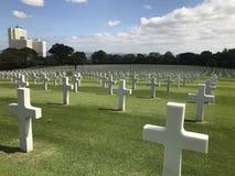 Cimitero americano a Manila Fotografie Stock