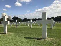 Cimitero americano a Manila Fotografia Stock