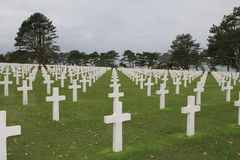 Cimitero americano in Normandia Fotografia Stock