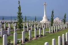 Cimitero australiano di guerra - la Somme - Francia fotografia stock