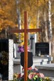 Cimitero in autunno fotografie stock