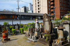 Cimitero buddista, Kyoto, Giappone fotografia stock