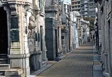 Cimitero a Buenos Aires, Argentina Immagine Stock