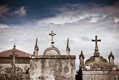 Cimitero cattolico in Galizia, Spagna Fotografia Stock Libera da Diritti