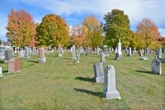 Cimitero cattolico nella caduta Immagini Stock