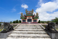 Cimitero cinese nell'isola di Ishigaki, Okinawa Japan immagine stock libera da diritti