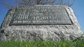 Cimitero commemorativo militare tedesco in Russia stock footage