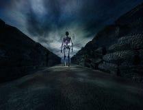 Cimitero con i fantasmi per Halloween Immagini Stock Libere da Diritti