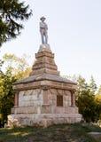 Cimitero confederato in Fredericksburg VA Fotografia Stock Libera da Diritti