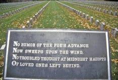 Cimitero confederato, isola della roccia, Illinois Immagini Stock