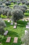 Cimitero cristiano a Gerusalemme Fotografia Stock