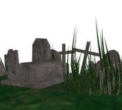 cimitero 3D Fotografia Stock Libera da Diritti
