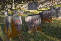 Cimitero degli ostaggi di Begunje Fotografie Stock Libere da Diritti