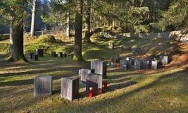 Cimitero degli ostaggi di Begunje Fotografia Stock Libera da Diritti