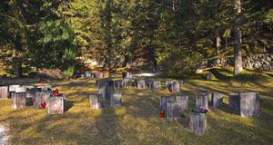 Cimitero degli ostaggi di Begunje Fotografie Stock