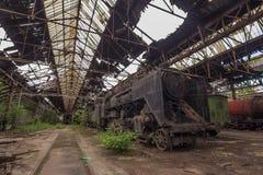 Cimitero dei treni abbandonati Immagini Stock Libere da Diritti