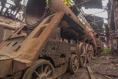 Cimitero dei treni abbandonati Fotografie Stock Libere da Diritti