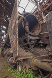 Cimitero dei treni abbandonati Fotografia Stock