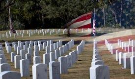Cimitero dei veterani sulla giornata dei veterani fotografia stock
