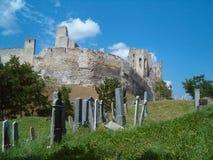 Cimitero del castello Immagine Stock