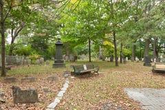 Cimitero del coloniale di Metuchen Fotografia Stock Libera da Diritti