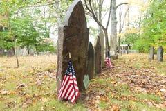 Cimitero del coloniale di Metuchen Fotografie Stock Libere da Diritti