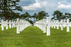 Cimitero del sur Mer di Colleville Immagine Stock Libera da Diritti