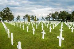 Cimitero del sur Mer di Colleville Fotografia Stock Libera da Diritti