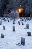 Cimitero del terreno boscoso a Stoccolma, Svezia Immagine Stock