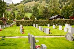 Cimitero del villaggio Fotografia Stock