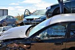Cimitero dell'automobile Fotografie Stock Libere da Diritti
