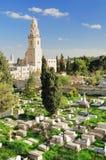 Cimitero della chiesa di Dormition Immagini Stock